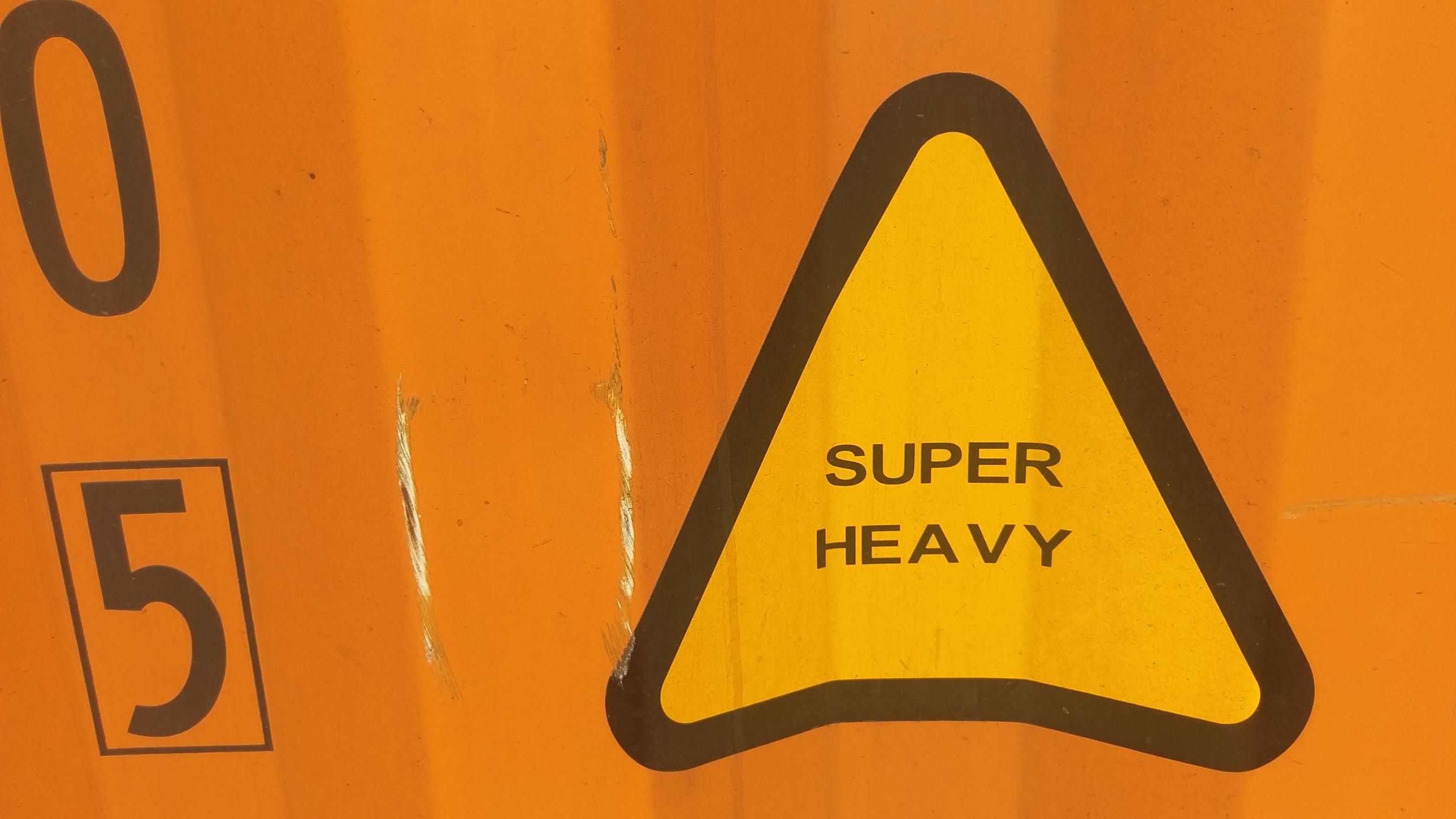Heavy Weight Label für schwere Container - Schwergutverladung mit Contibridge