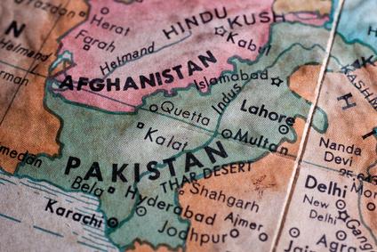 Landkarte Pakistan  - Seefrachtspezialist Contibridge für Verladungen nach Pakistan