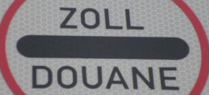 Zoll-Douane Schild - Zollabfertigung durch Contibridge